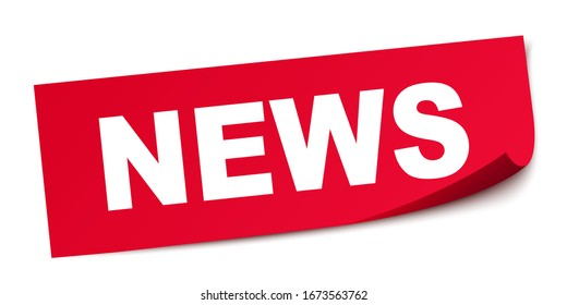 News square sticker banner – stock vector