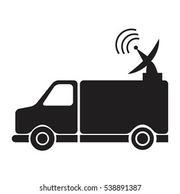 news van with antenna information communication