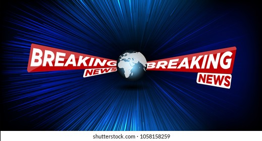 News vector background, breaking news. Can be used for blog background or technological or business news article backdrop. E