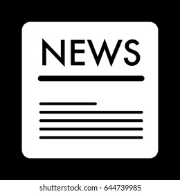 news vector icon. Black and white news illustration. Solid linear icon.