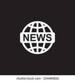 News vector icon. World globe symbol.