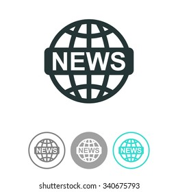 News vector icon. World globe symbol.