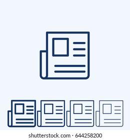 News Vector Line Icon