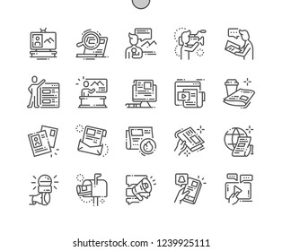 News Well-crafted Pixel Perfect Vector Thin Line Icons 30 2x Grid for Web Graphics and Apps. Simple Minimal Pictogram