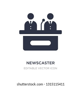 newscaster icon on white background. Simple element illustration from Web concept. newscaster icon symbol design.