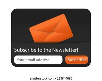 Newsletter Form with Orange Envelope