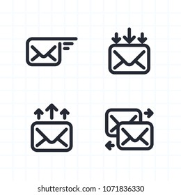 Newsletter Operations - Contour Icons. A set of 4 professional, pixel-aligned icons.