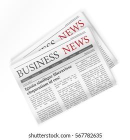Newspaper. Business news. Regional newspapers business news.