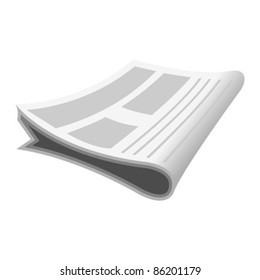 Newspaper cartoon isolated over white background