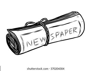 Newspaper Hand Draw Images Stock Photos Vectors Shutterstock