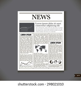 The newspaper with a headline News
