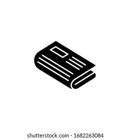 newspaper icon black vector illustration