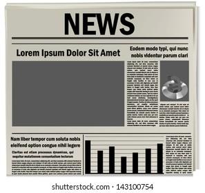 Newspaper icon, business news