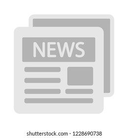 newspaper icon - daily newsletter - news icon - media publication -news article