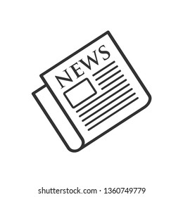 Newspaper Icon. Information or News Illustration As A Simple Vector Sign & Trendy Symbol for Design and Websites, Presentation or Mobile Application.