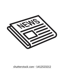 newspaper icon, logo design template