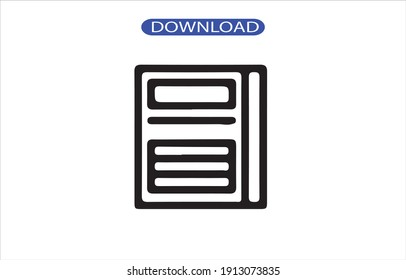 newspaper icon or logo isolated sign symbol vector illustration - high quality black style vector icons.