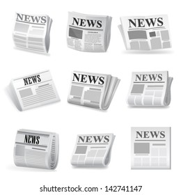Newspaper icon. Vector