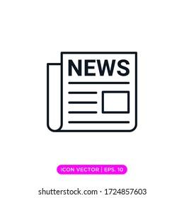 Newspaper icon vector design template