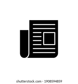 Newspaper icon vector. news paper vector sign
