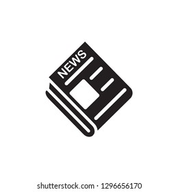 Newspaper icon vector template flat trendy
