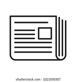 Newspaper isolated symbol