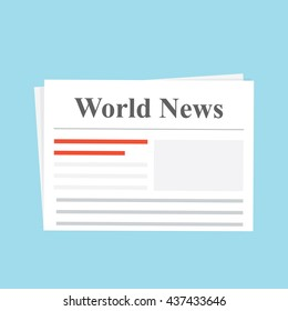 newspaper news flat image vector web illustration daily art object