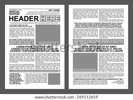 newspaper style flyer template stock vector royalty free 269112659