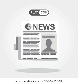 Newspaper. Vector flat icon of news.