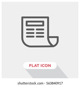 Newspaper vector icon, news symbol. Modern, simple flat vector illustration for web site or mobile app