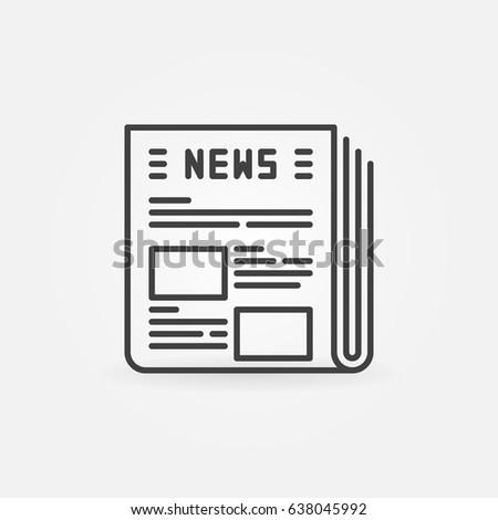 Newspaper Vector Icon Outline News Modern Concept Sign Or Design Element