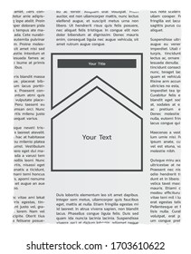 Newspapers with lorem ipsum text and empty box for your business and advertising text.