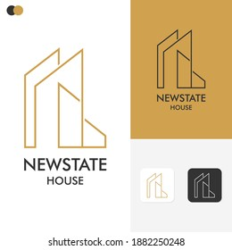 New-state Logo Template Design vector graphic