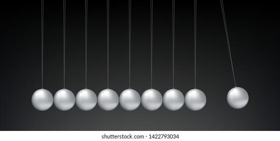 Newton's Cradle balancing Balls graphic vector