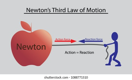 Newton's Third Law of Motion, Concept design.
