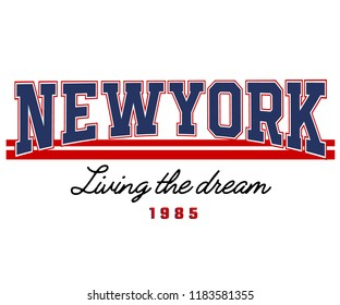 NEWYORK_Living The Dream_slogan graphic