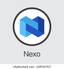 NEXO - Nexo. The Logo or Emblem of Money, Market Emblem, ICOs Coins and Tokens Icon.