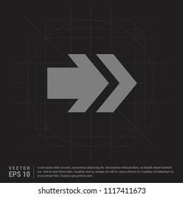 Next Arrow Icon - Black Creative Background - Free vector icon