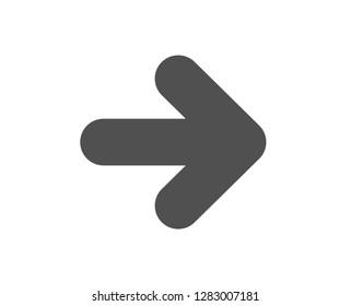Next arrow icon. Forward Arrowhead symbol. Navigation pointer sign. Quality design element. Classic style icon. Vector
