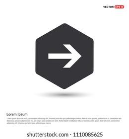 Next Arrow Icon Hexa White Background icon template - Free vector icon
