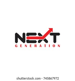 NEXT GENERATION logo design vector