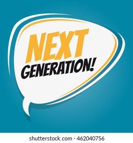 next generation retro speech balloon
