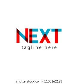 Next Logo Letter Vector Template Design Illustration