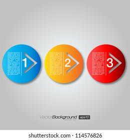 Next Step Arrow Circles | EPS10 Vector Design
