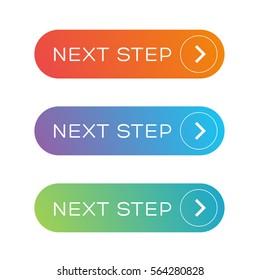 Next step colorful button set