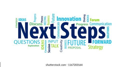 Next Steps Word Cloud