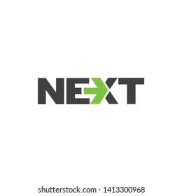 Next typography logo template vector