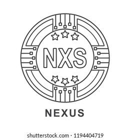 nexus coin nxs Cryptocurrency  icon outline
