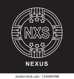 nexus coin nxs Cryptocurrency  icon blackground