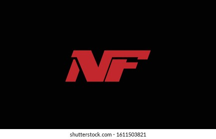 NF abstract vector logo monogram template